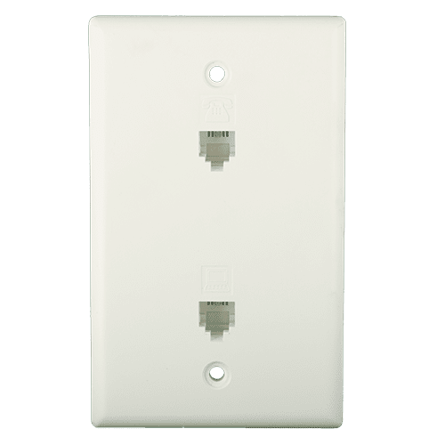Dual Flush Faceplate Front